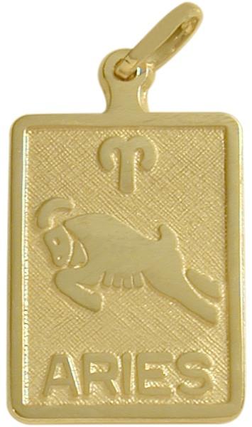 10 Karat Yellow Gold Aries Zodiac Pendant