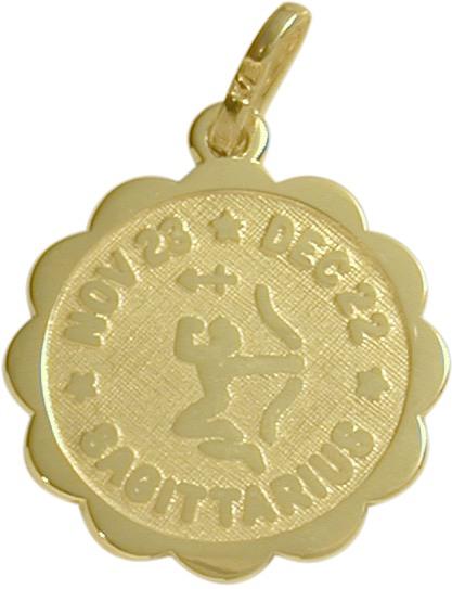 10 Karat Yellow Gold Sagittarius Zodiac Pendant (Nov23-Dec22)