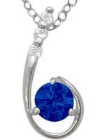 Sapphire | Sterling | Pendant | Silver