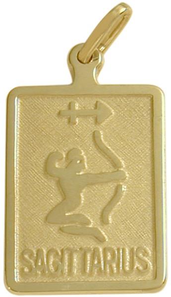 10 Karat Yellow Gold Sagittarius Zodiac Pendant