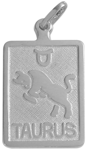 10 Karat White Gold Taurus Zodiac Pendant