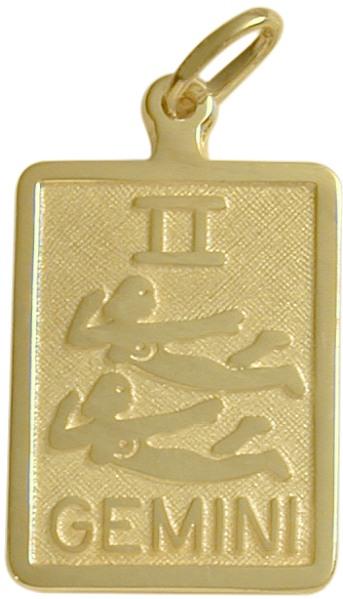 10 Karat Yellow Gold Gemini Zodiac Pendant