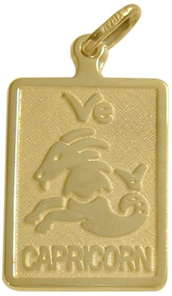 10 Karat Yellow Gold Capricorn Zodiac Pendant