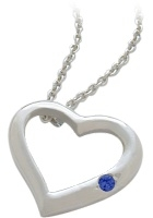 Sapphire | Sterling | Pendant | Silver | Heart