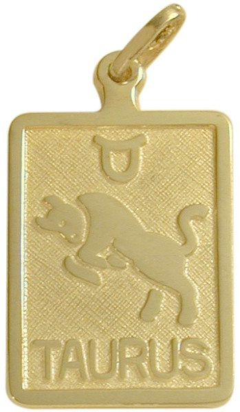 10 Karat Yellow Gold Taurus Zodiac Pendant