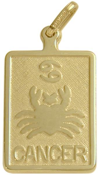 10 Karat Yellow Gold Cancer Zodiac Pendant