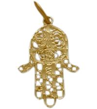 Yellow Gold Hamsa Jewish Pendant