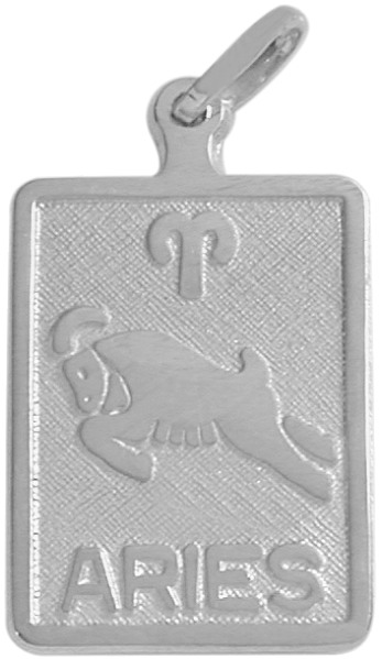 Sterling Silver Aries Zodiac Pendant