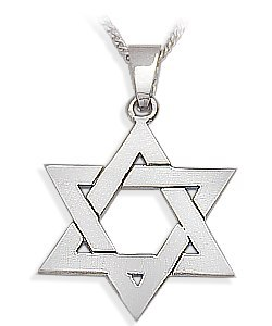 Sterling Silver High Polish Religious Large Star of David Jewish Pendant