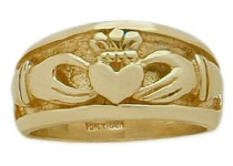 Traditional 10 Karat Yellow Gold Claddagh Knot Ring