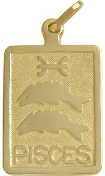 10 Karat Yellow Gold Pisces Zodiac Pendant
