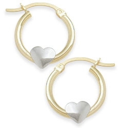 Two-Tone | Earring | Heart | Baby | Gold