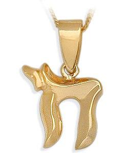 14 Karat Religious Yellow Gold Jewish Pendant