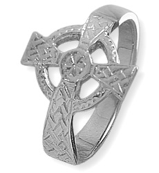 Ladies Sterling Silver Celtic Cross Ring