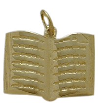 Yellow Gold Holy Book Jewish Pendant