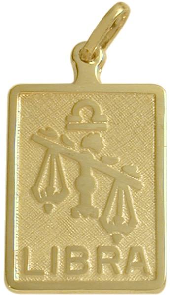 10 Karat Yellow Gold Libra Zodiac Pendant